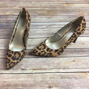a.n.a. Cheetah Leopard Print Heels Size 8.5